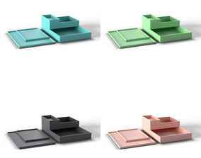 Poppin Office Trays 3D