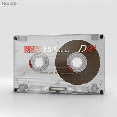 transparent cassette 3d model max obj mtl 3ds fbx c4d lwo lw lws 1