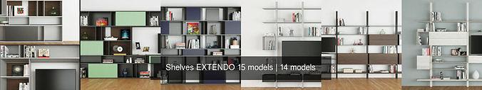 shelves extendo 15 models 3d model max obj mtl fbx 1