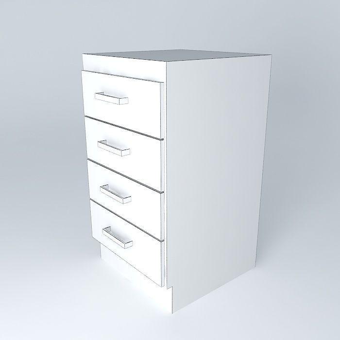 Single module cabinet kitchen gav free 3d model max obj for Single kitchen cabinet