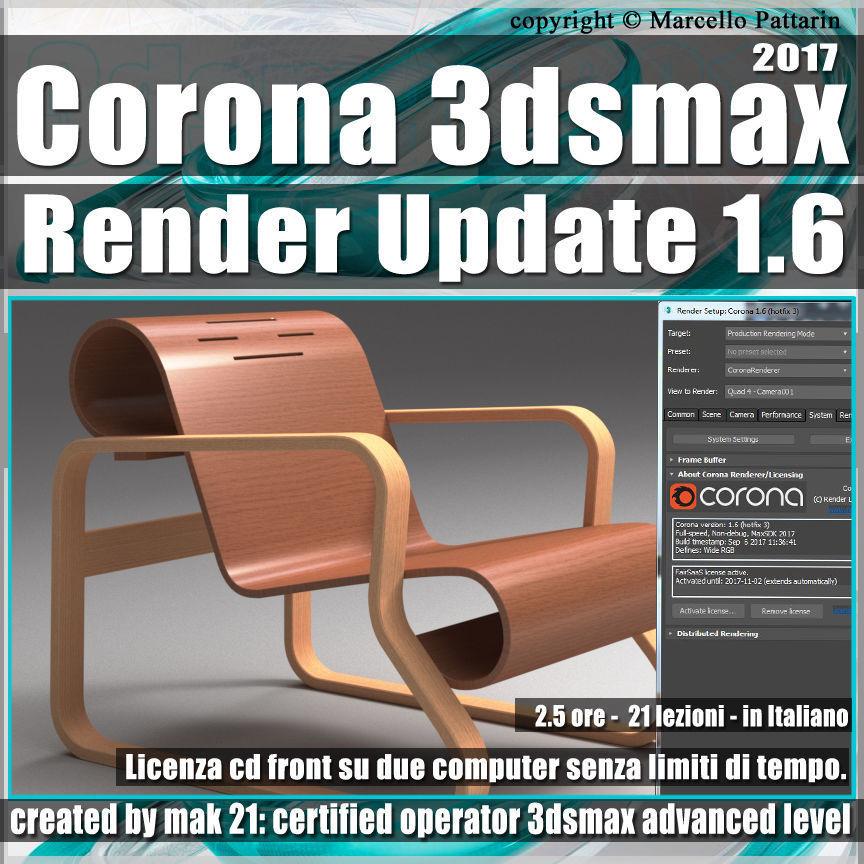 Corona 1 6 in 3dsmax 2017 Render Update Vol 4 Cd Front
