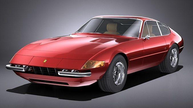 HQLowPoly Ferrari Daytona 1968-1973