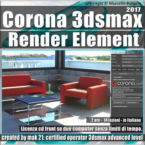 corona 1 6 in 3dsmax 2017 render element vol 5 cd front 3d model max pdf 1