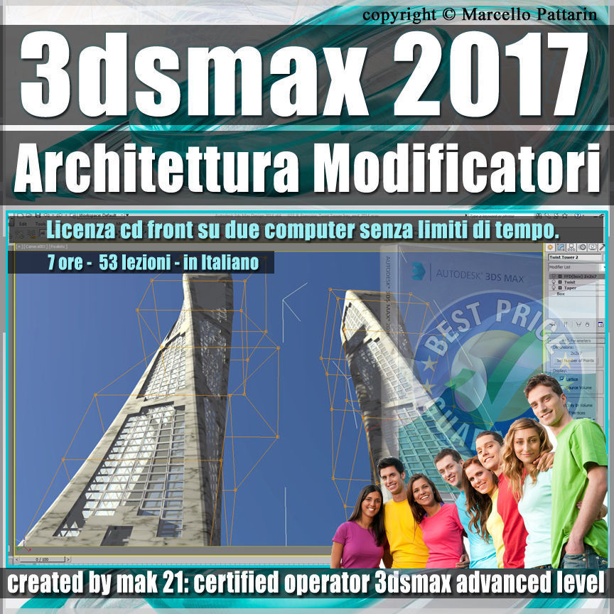 008 3ds max 2017 Architettura e Modificatori vol 8 cd front