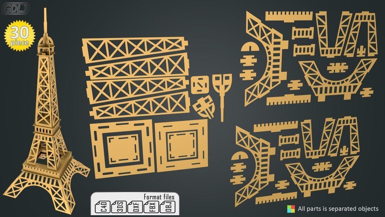Eiffel Tower - KIT | 3D model