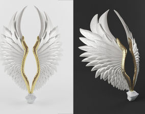 3D animated Angel wing
