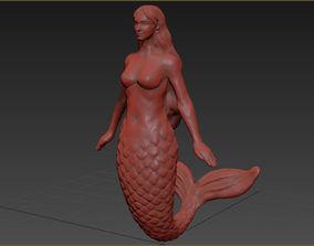3D print model Realistic Mermaid