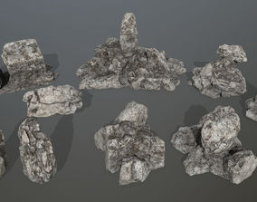 3D asset rocks set 1