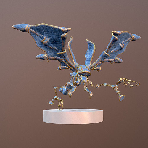 blue fenix 3d model rigged obj mtl fbx 1