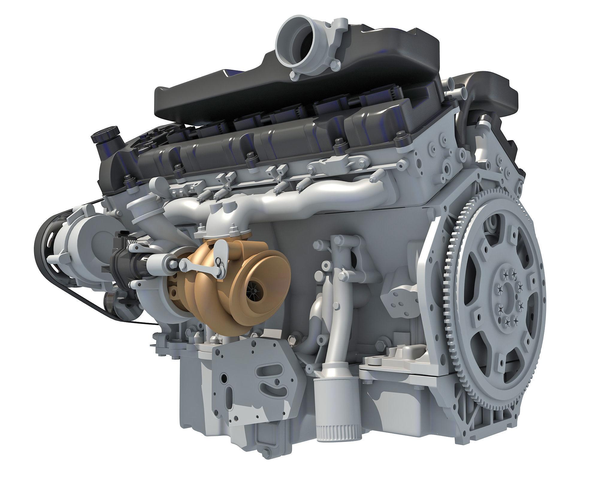 How V12 Engine Works Animation