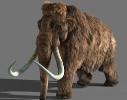3d model mammoth animated