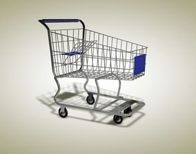 supermarket trolley 3D model other