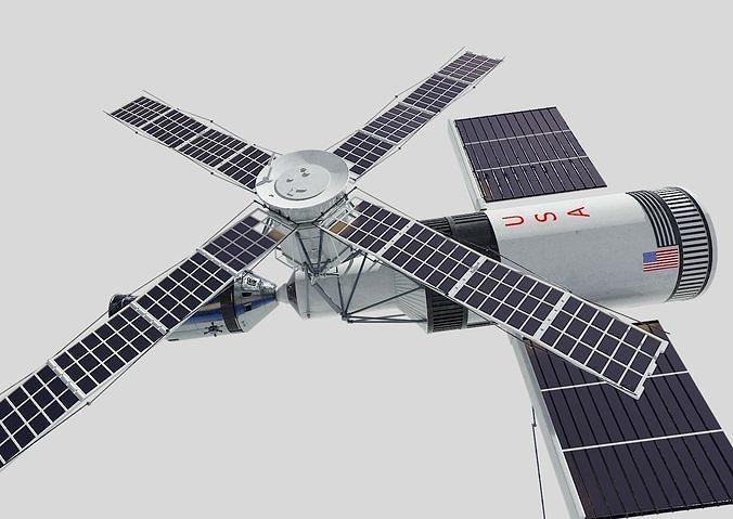 skylab 3d model obj mtl 3ds fbx blend dae 1