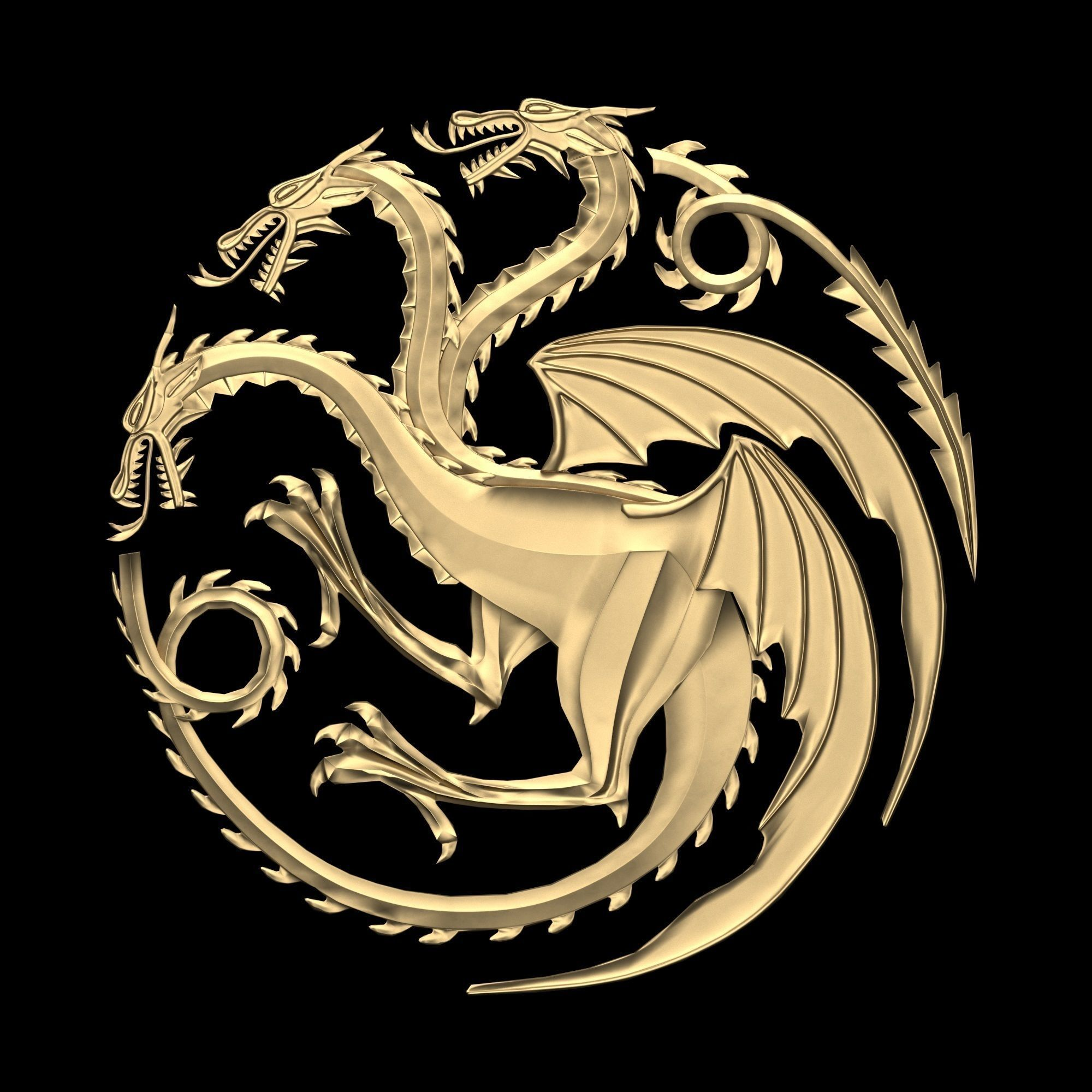 Game of Thrones - House Targaryen sigil Low poly