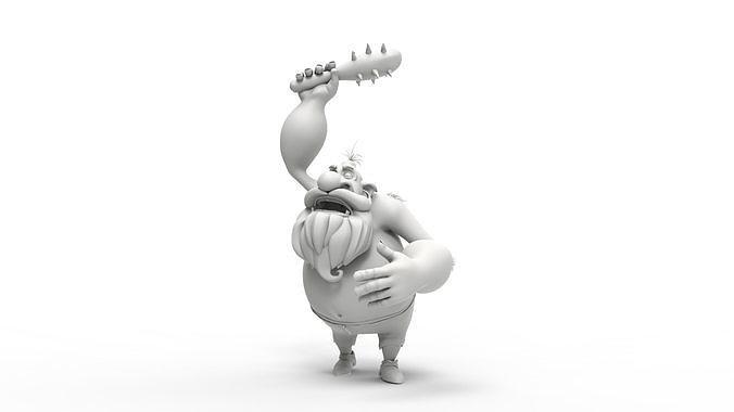 caveman 3d model ma mb 1