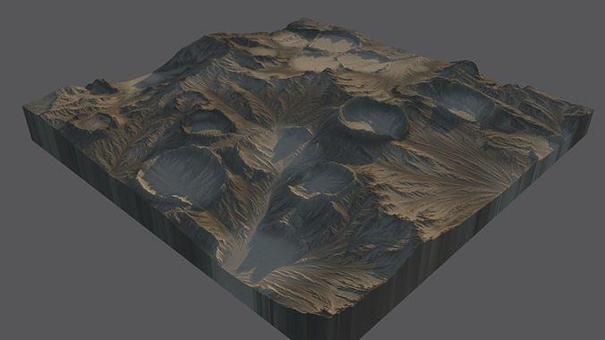 moon surface 3d model max obj mtl fbx 1