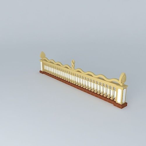 naga handrail 3d model max obj mtl 3ds fbx stl dae 1