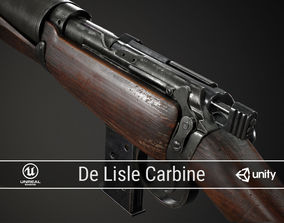 PBR De Lisle Carbine 3D asset low-poly