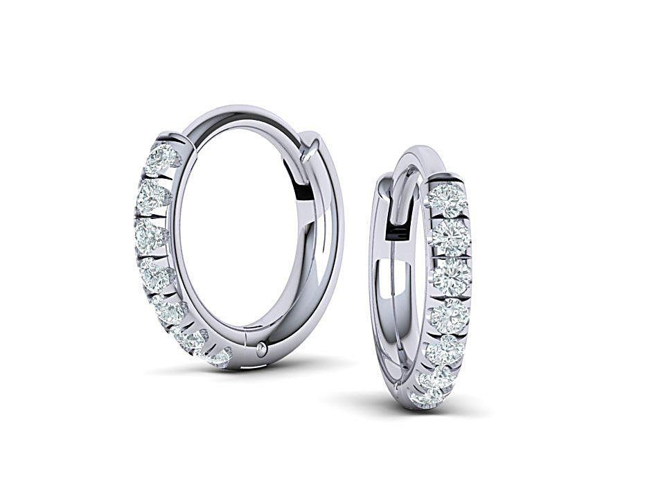 Hoop earrings 3dmodel printable