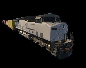 Freight Train 3D asset VR / AR ready