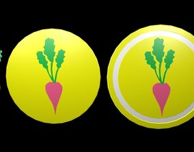 3D model Low poly Agriculture symbol 1