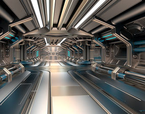 3D Sci Fi Modular Corridor BASIC EDITION
