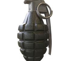 Mk-2 Frag grenade 3D