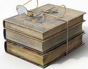 3D asset Old Books