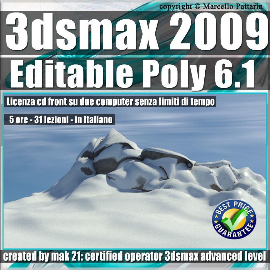 006 1 3ds max 2009 Editable Poly v 6 1 Italiano cd front