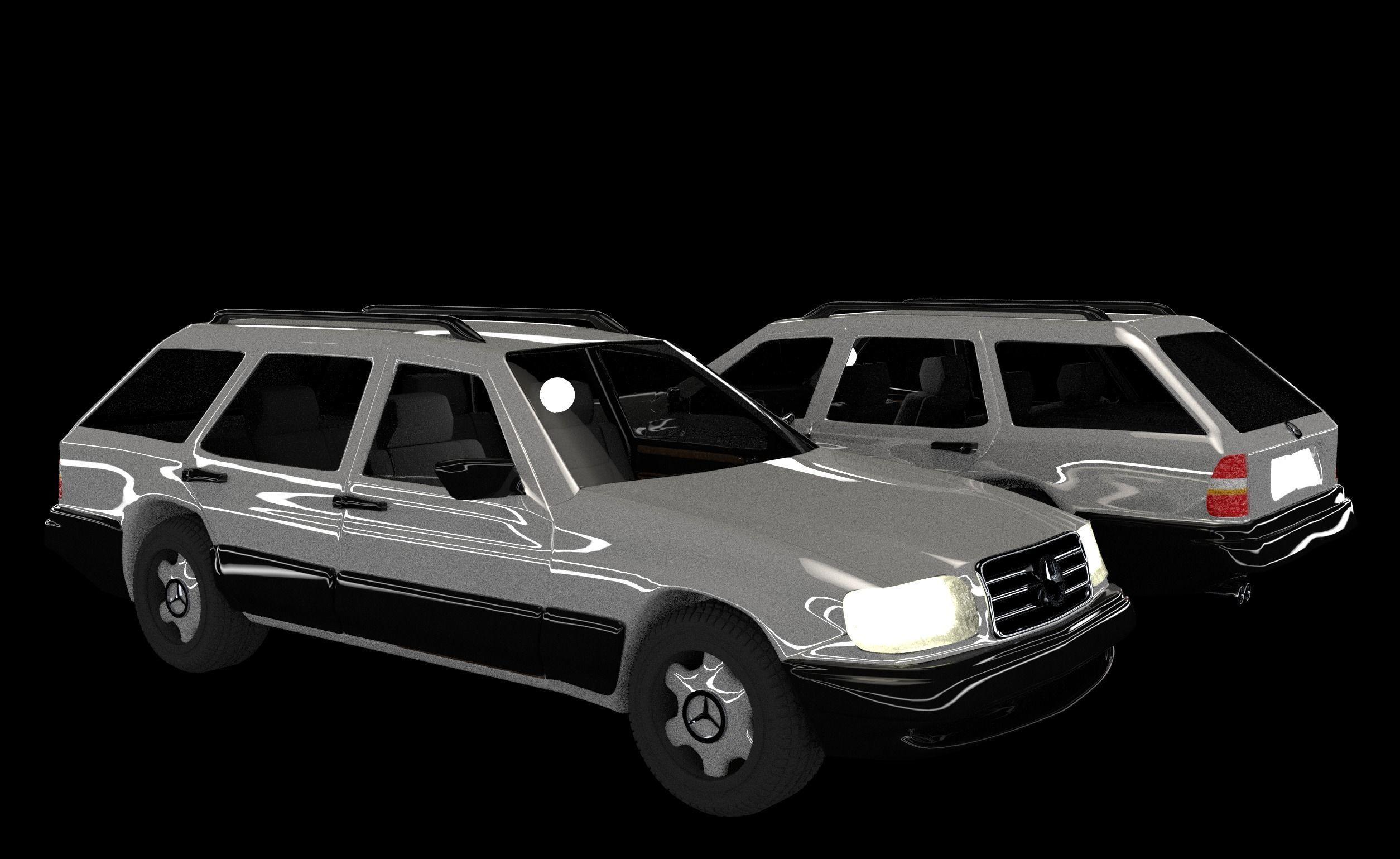 f5ea2acd199 Mercedes-Benz E class W124 Kombi model 3D Low-poly 3D model