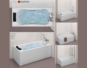 Set of baths Roca set 31 -Element-BeCool-Hall-Vythos 3D