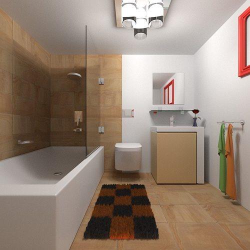 Modern bathroom 1 3d model cgtrader for New bathroom models