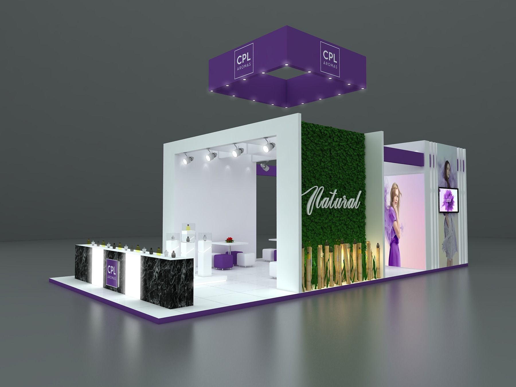 Exhibition Stand With Shelves : Exhibition stand d model mtr sides game ready