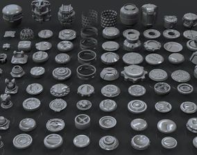 3D model Hard Surface Sci-Fi Industrial KitBash