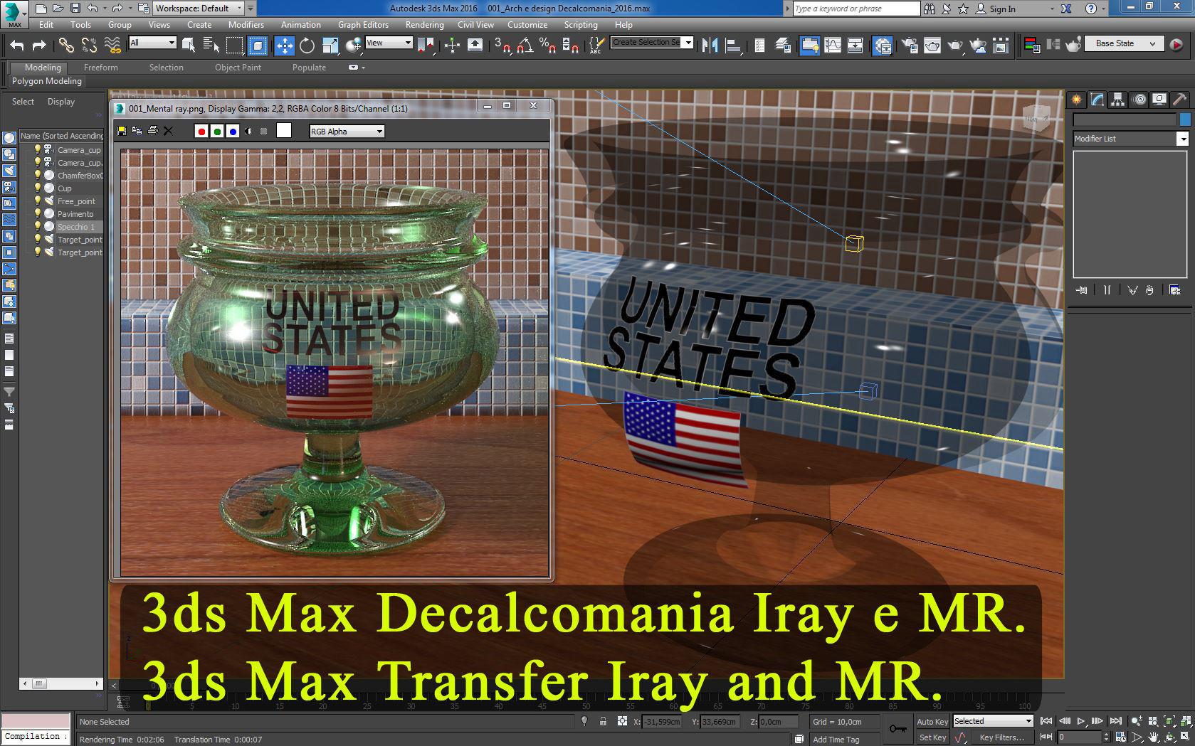 3ds Max Materiale Decalcomania Iray e Mental Ray
