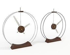3D Double Ring Table Clock Nomon
