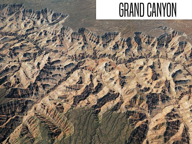 grand canyon 40x40 km 3d model max obj mtl fbx 1