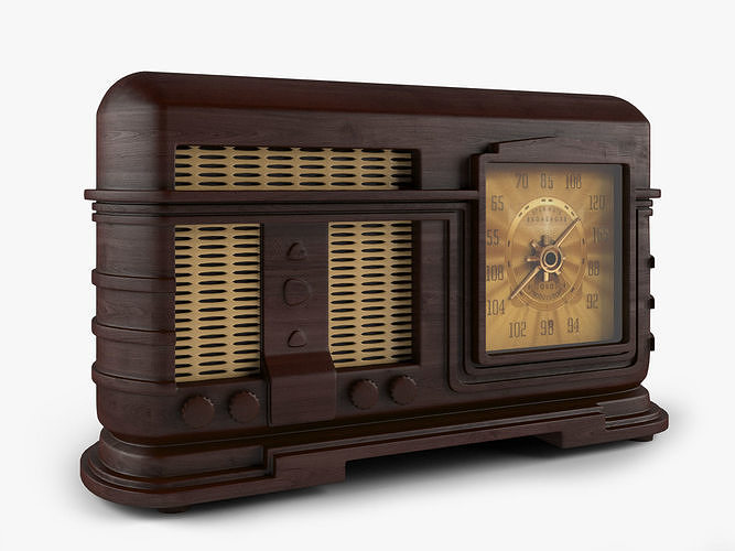 old radio 3d model max obj mtl fbx 1