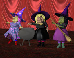 V Powers Sister Witches 3D Model