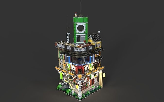 lego ninjago city 2 3d model obj mtl fbx c4d 1