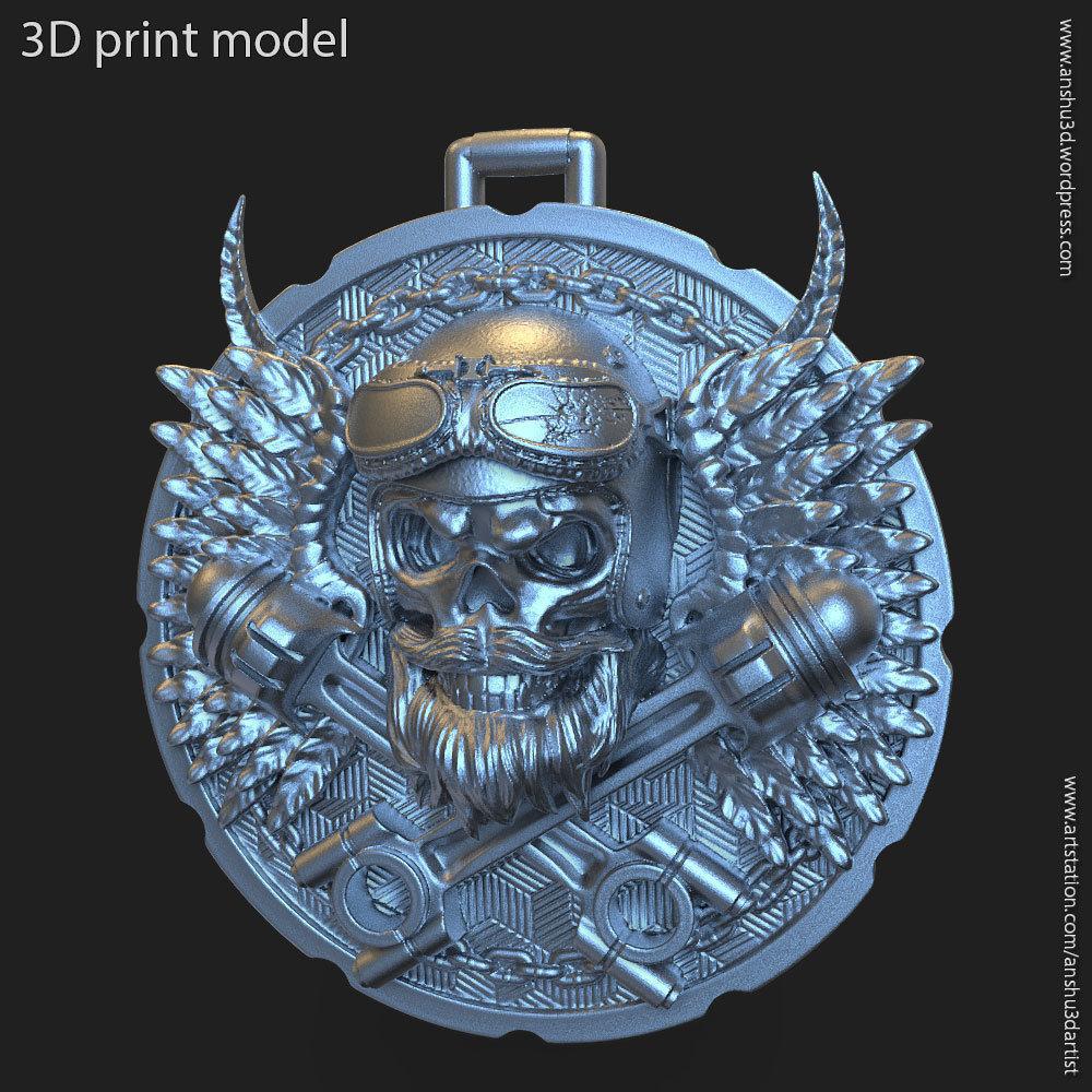 Biker skull vol3 pendant jewelry