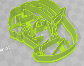 Link face Legend of Zelda cookie cutter 3D printable model