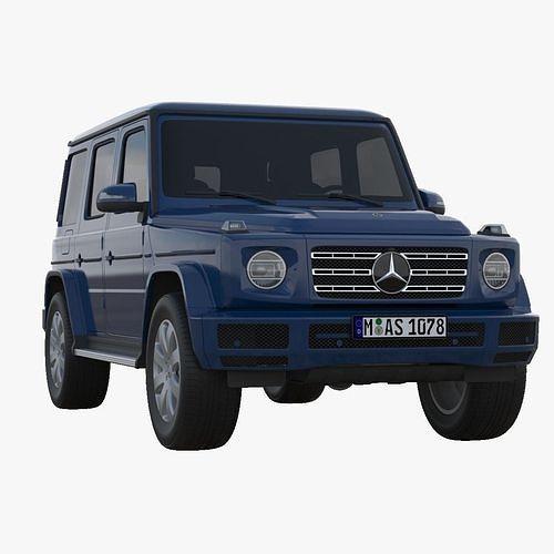 mercedes-benz g-class 2019 3d model max obj mtl fbx 1