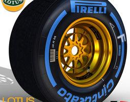 E23 Wet front tyre 3D asset