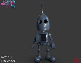 printable Stylized Tin Man Robot Timelapse and Model