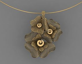 3D printable model Vision Flower Necklace - 024