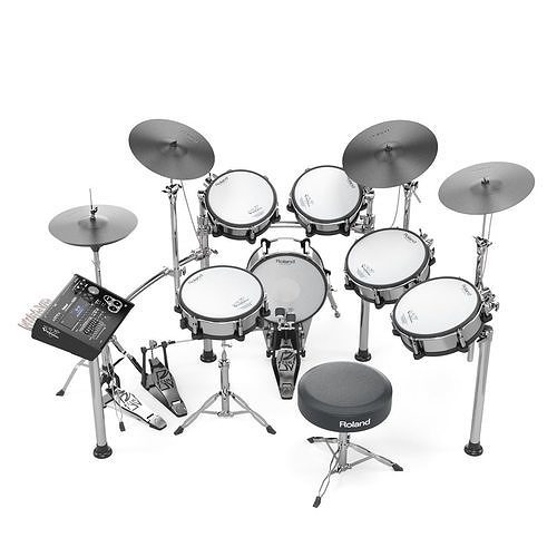 roland td30 electronic drums set 3d model max obj mtl fbx 1