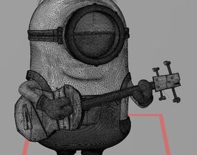MINION PLAYING GUITAR 3D PRINT FILE