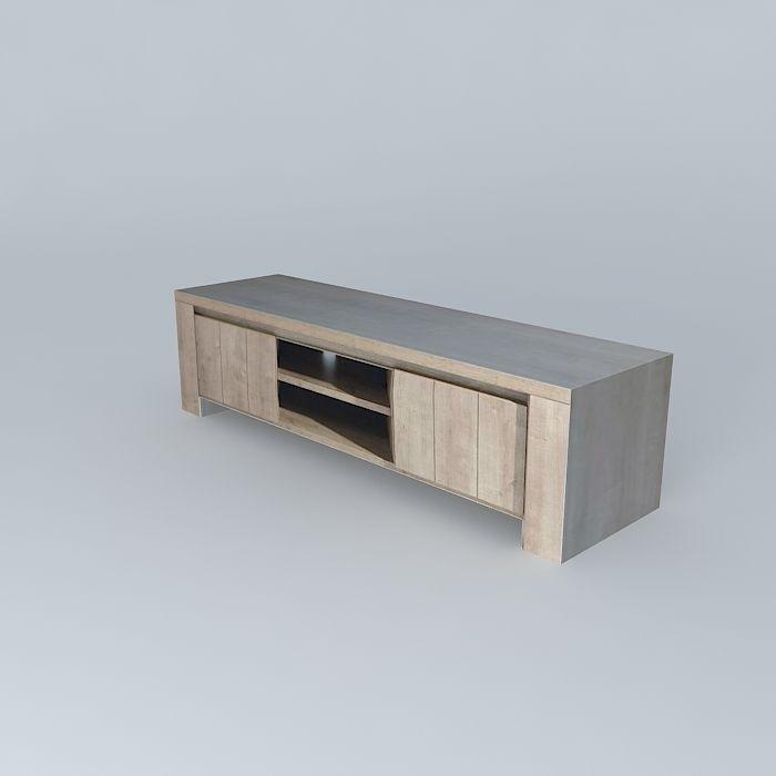 Tv stand conforama brest free 3d model max obj 3ds fbx stl - Conforama table tv ...