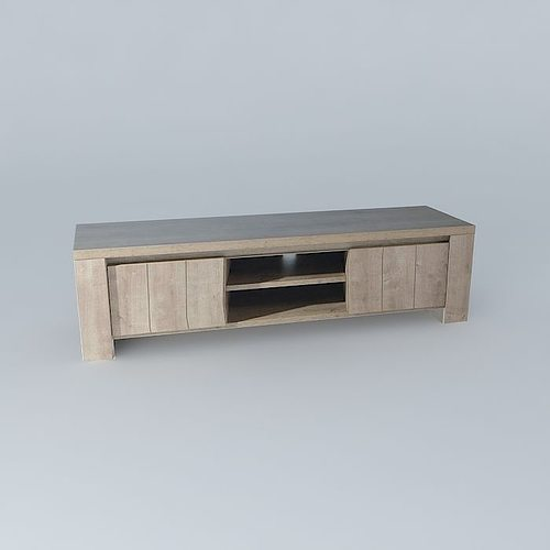 Tv Stand Conforama Brest 3d Model Max Obj 3ds Fbx Stl Dae 1 ...
